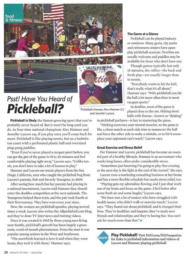 H2U pickleball story