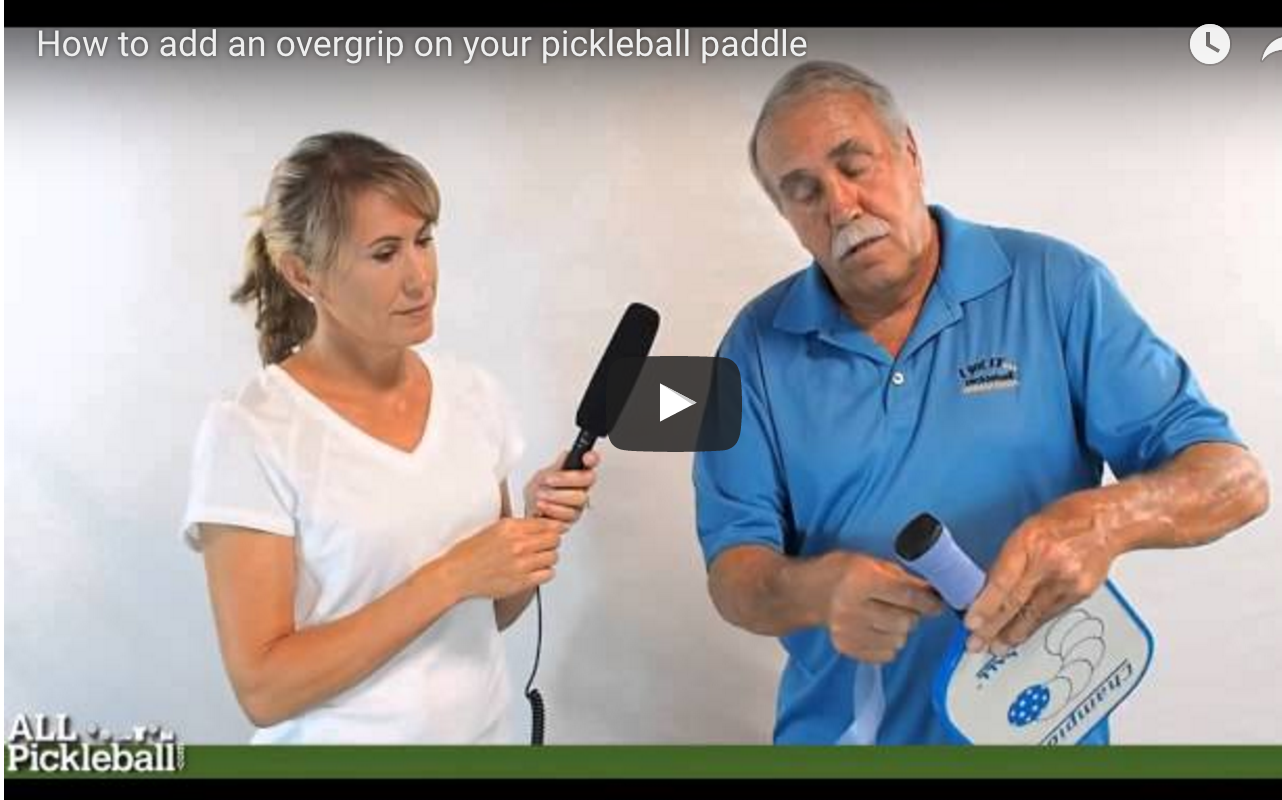 Overgrip on Pickleball Paddle