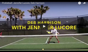 Jennifer Lucore Forehand Volley