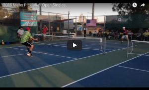 2015 Mens Open Singles Pickleball