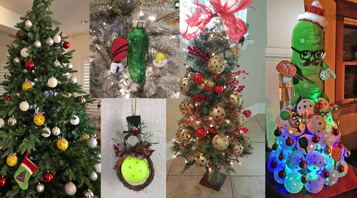 Pickleball Christmas Decorations