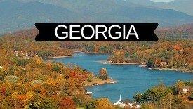 GA USA state graphics
